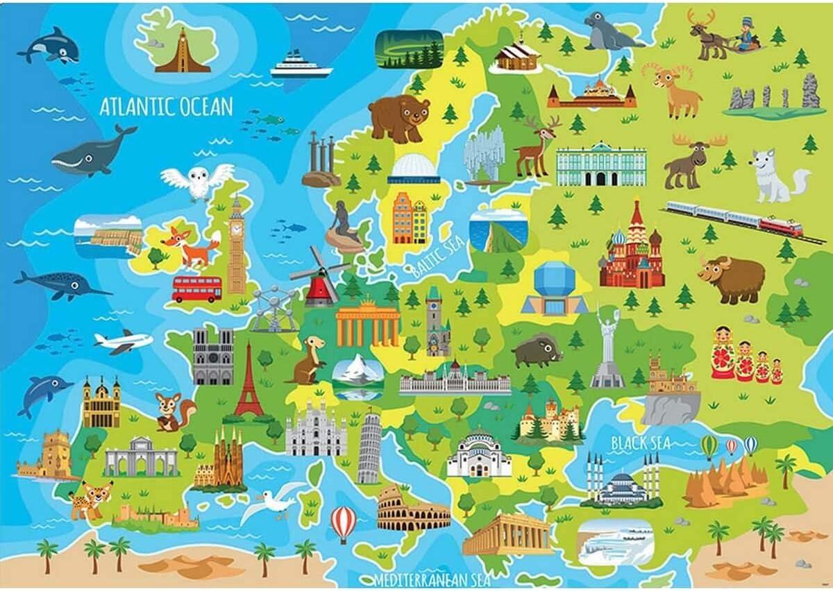 Educa- Mapa Europa Puzzle Infantil de 150 Piezas, a Partir de 6 años (18607): Amazon.es: Juguetes y juegos