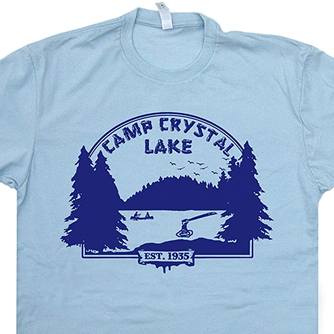 f5b7ddea9 S - Camp Crystal Lake T Shirt Councelor Friday The 13th Tee Vintage 80s  Horror Movie