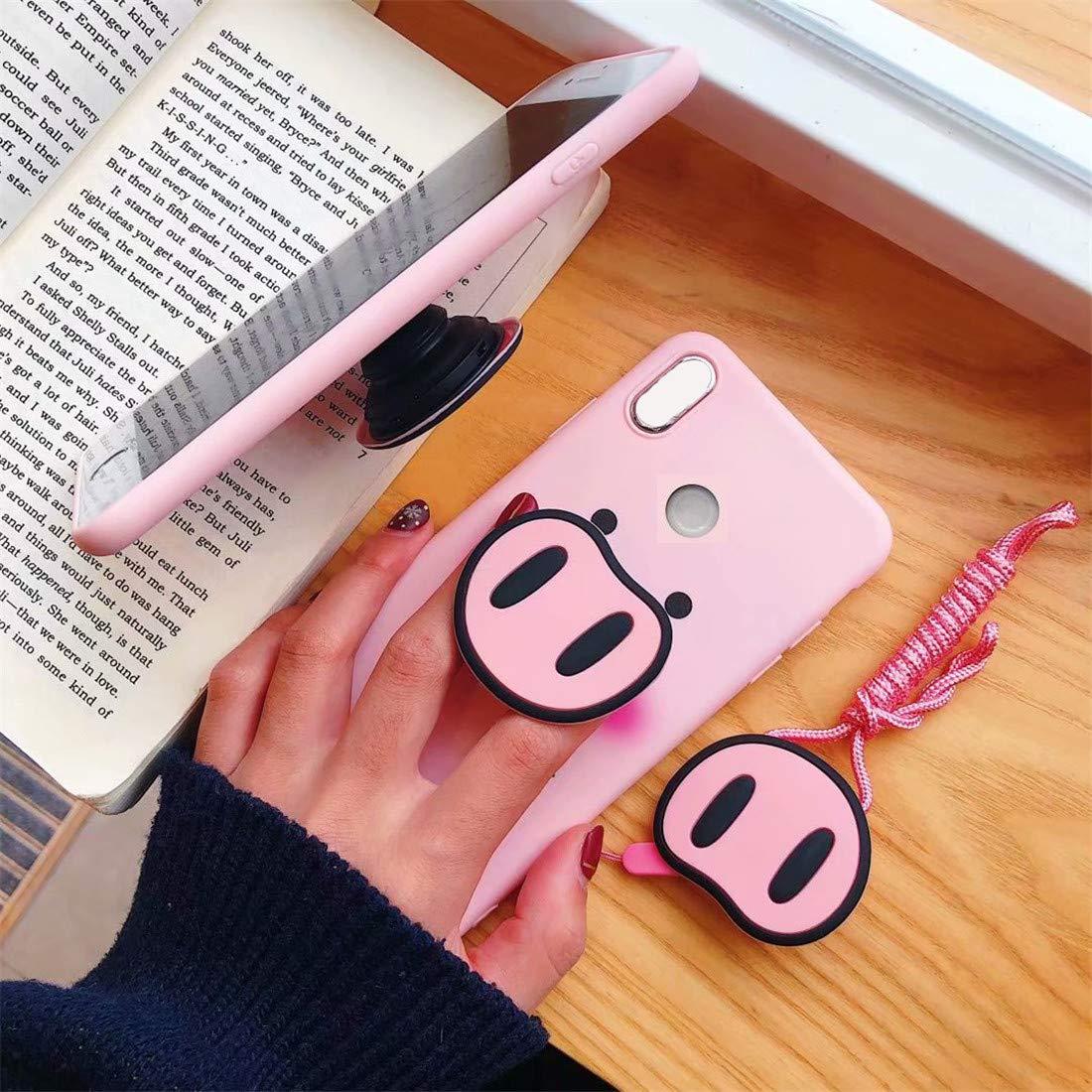 Amazon.com: HIKERCLUB Huawei P20 Funda Cartoon Rosa Pig 2 en ...