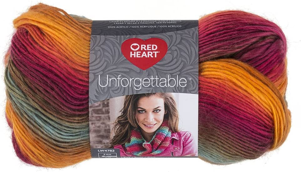 RED HEART Unforgettable Yarn, Sunrise