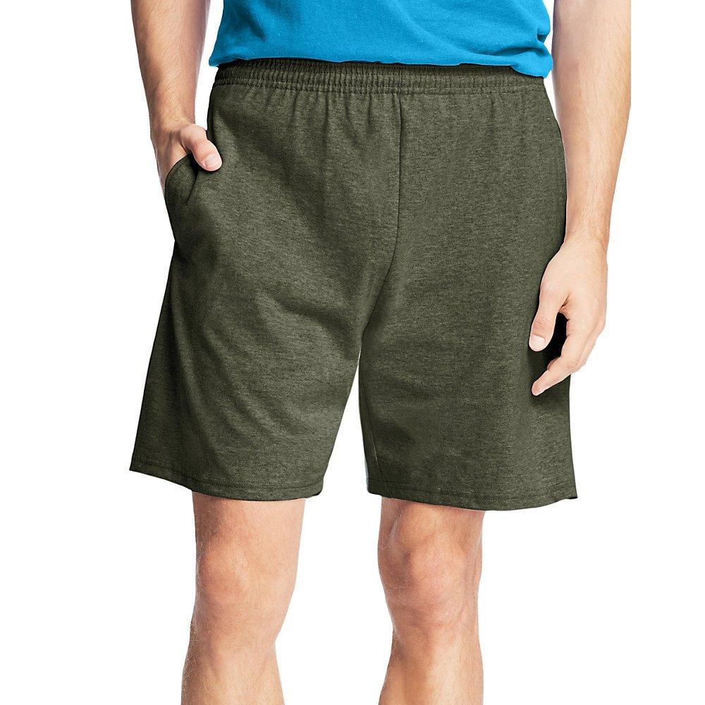 Hanes Men's Jersey Cotton Shorts_Camo Green_2XL by Hanes