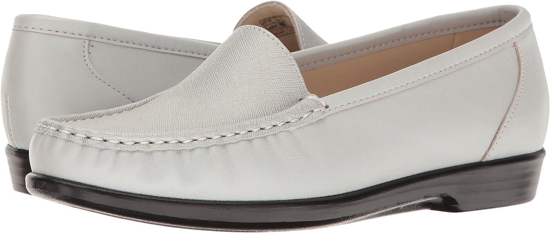 SAS Simple Women's Slip On Leather Loafer B01N0VFLTP 10.5 N - Narrow (AA) US|Silver Cloud