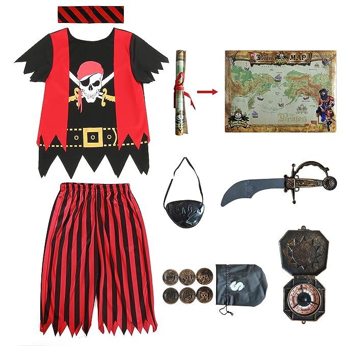 Amazon.com: Disfraz de pirata para niños, juego de rol de ...
