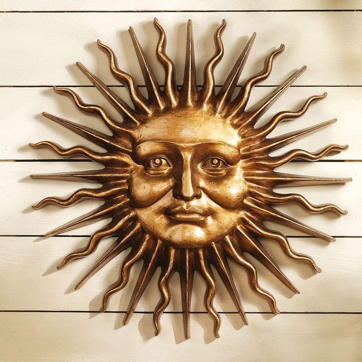 Design Toscano Sloane Square Greenman Sun Wall Sculpture in Antique Bronze