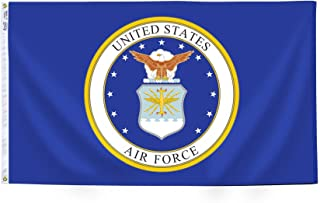 product image for Annin Flagmakers Model 439010 U.S. Airforce Military Flag 3x5 ft. Nylon SolarGuard Nyl-Glo 100% Made in USA to Official Specifications. Officially Licensed Manufacturer.