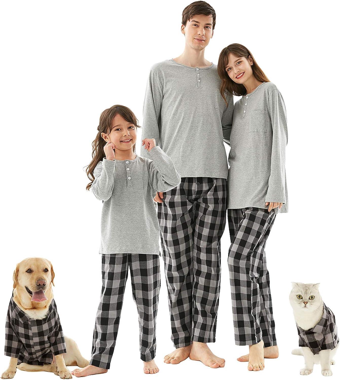 Conjunto de pijamas de Navidad de la familia, Buffalo Plaid ...