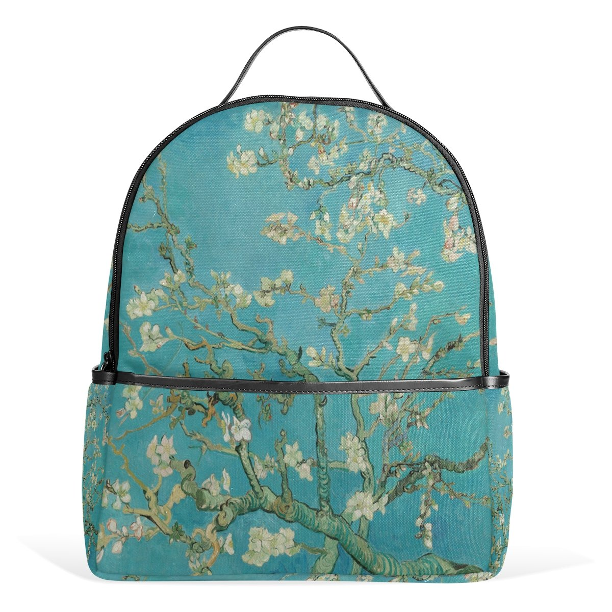 a293bbfcf63f School Backpack for Boys Girls Van Gogh Almond Blossoms College Students Bag
