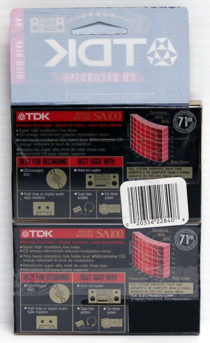 Amazon.com: TDK SA100 High Bias IECII/TYPEII 2 pack Cassette Tapes: Home Audio & Theater
