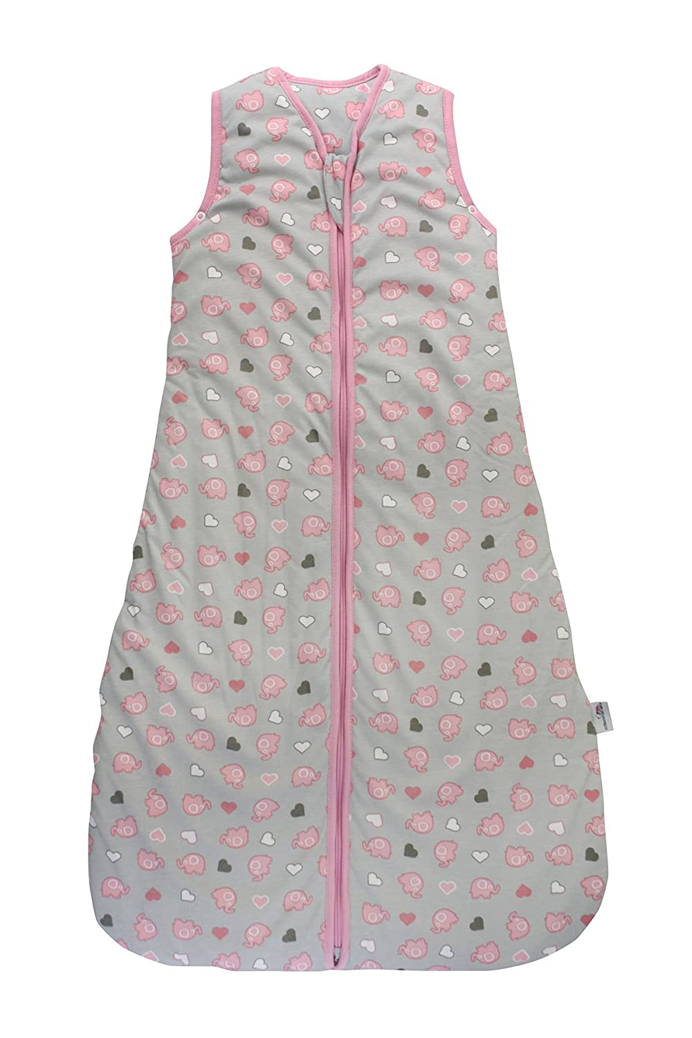Slumbersac Baby Sleeping Bag 2.5 Tog Simply Pink Elephants 6-18 Months