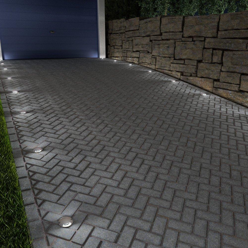 Garageneinfahrt beleuchtung  parlat LED Boden-Aufbau-Leuchte Bunda 2-Beam für: Amazon.de ...