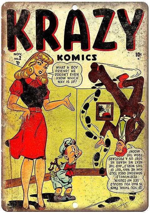 Krazy Komics Comic Póster De Pared Metal Retro Placa Cartel ...