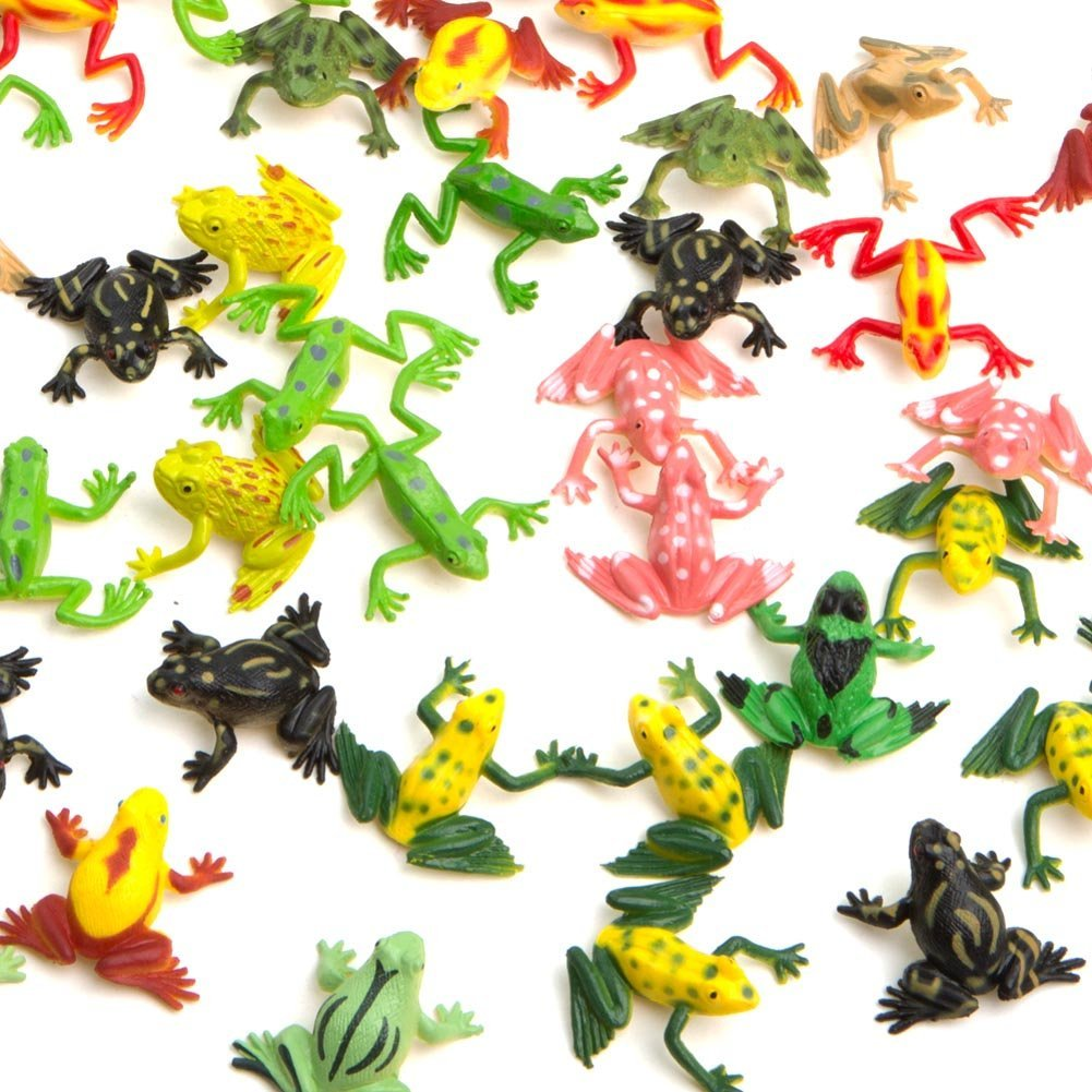 classroom set of mini vinyl frogs