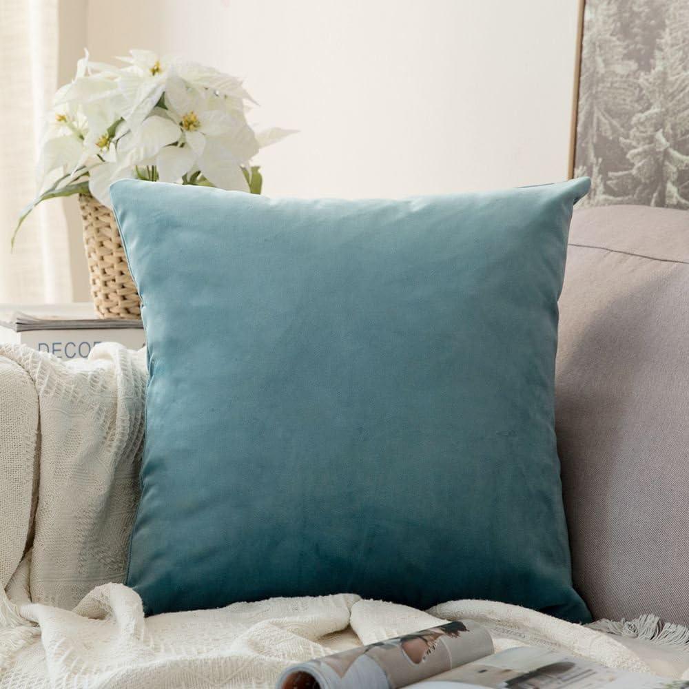 MIULEE Velvet Soft Soild Decorative Square Throw Pillow Covers Cushion Case for Sofa Bedroom Car 18 x 18 Inch 45 x 45 cm