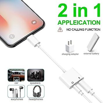 Amazon.com: Adaptador de auriculares para iPhone, conector ...