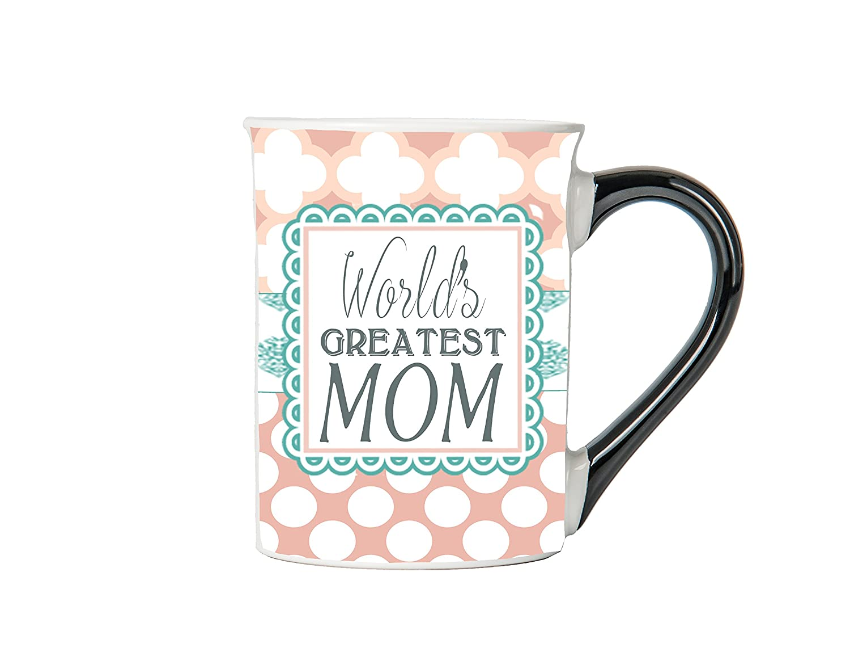 50f062492d2 Amazon.com: Tumbleweed World's Greatest Mom Coffee Mug - Mom Mug - Mom  Coffee Cup - Ceramic Mom Mug - Gifts For Women - Large 18 Oz Coffee Cups:  Kitchen & ...