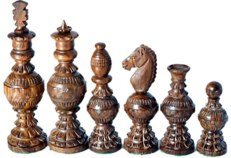 Chess Set Globe Design King 5u0026quot; 32 Wooden Weighted Handmade Chess Pieces