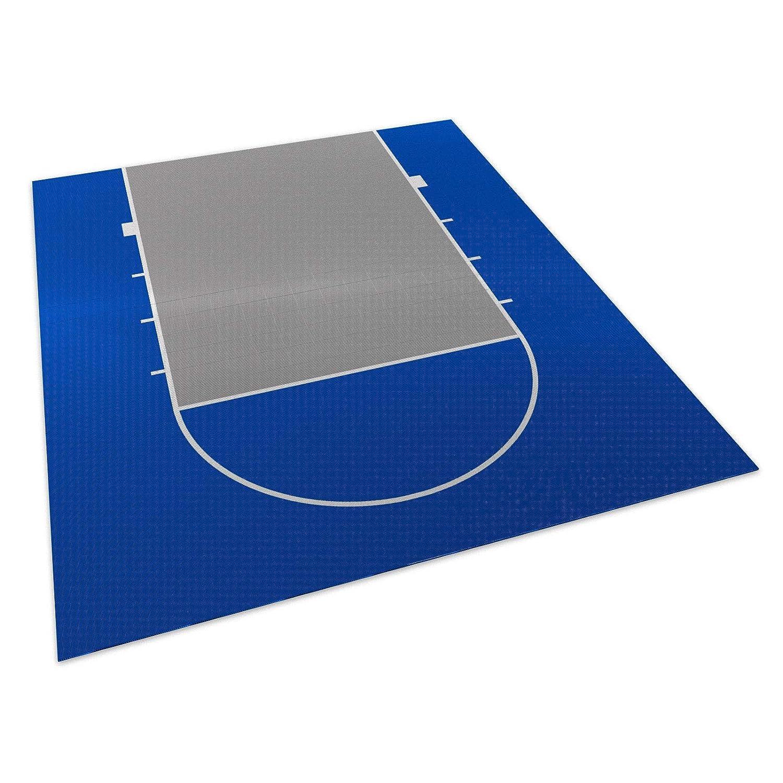 DunkStar 20'x25' Basketball Court (Bright Blue and Gray)