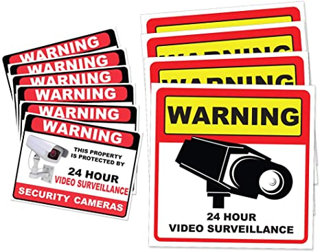 Amazon.com: calcomanía Vigilancia por vídeo Grupo, 10 ...
