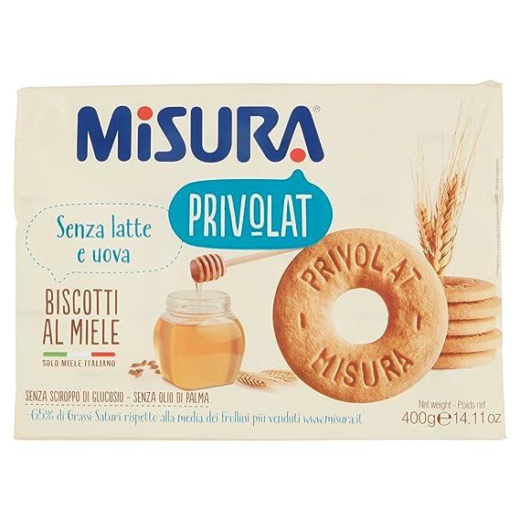 Misura , Privolat, Biscotti al Miele Italiano, Senza Latte e Uova , 3  confezioni da 400 g [1200 g] Amazon.it Alimentari e cura della casa