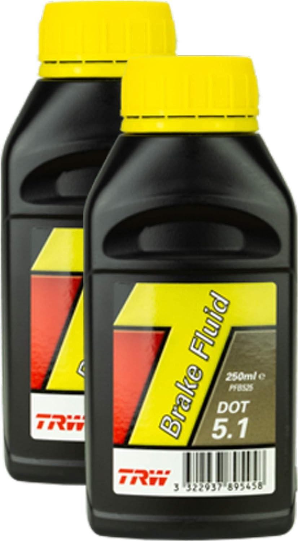 2x Trw Bremsflüssigkeit Brake Fluid Dot 5 1 250 Ml Pfb525 Auto