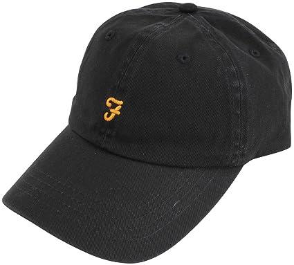 Farah Black Thorney Twill Baseball Cap  Amazon.co.uk  Clothing dda2ba14443
