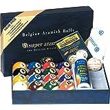 "Aramith 2-1/4"" Regulation Size Professional Billiard/Pool Balls, Super Aramith Pro Advantage Value Pack"