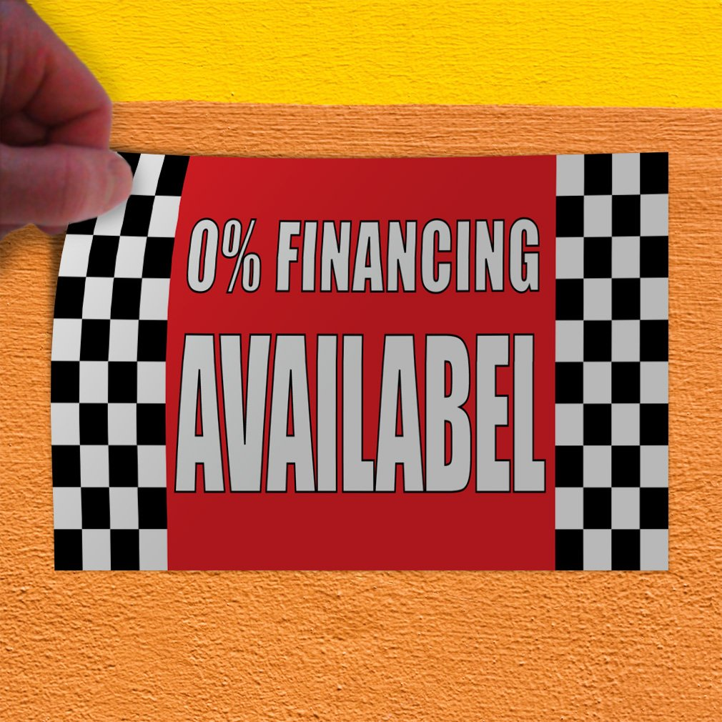 Set of 5 30inx20in Decal Sticker Multiple Sizes 0/% Financing Available #1 Business 0percent Finance Outdoor Store Sign Red