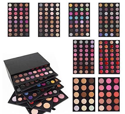 ded753ee8 Pure Vie 222 Colores Sombra De Ojos Corrector Rubor y Brillo de Labios  Paleta de Maquillaje