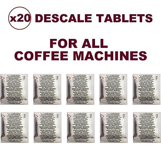 20 pastillas desincrustantes compatible con todas las cafeteras ...