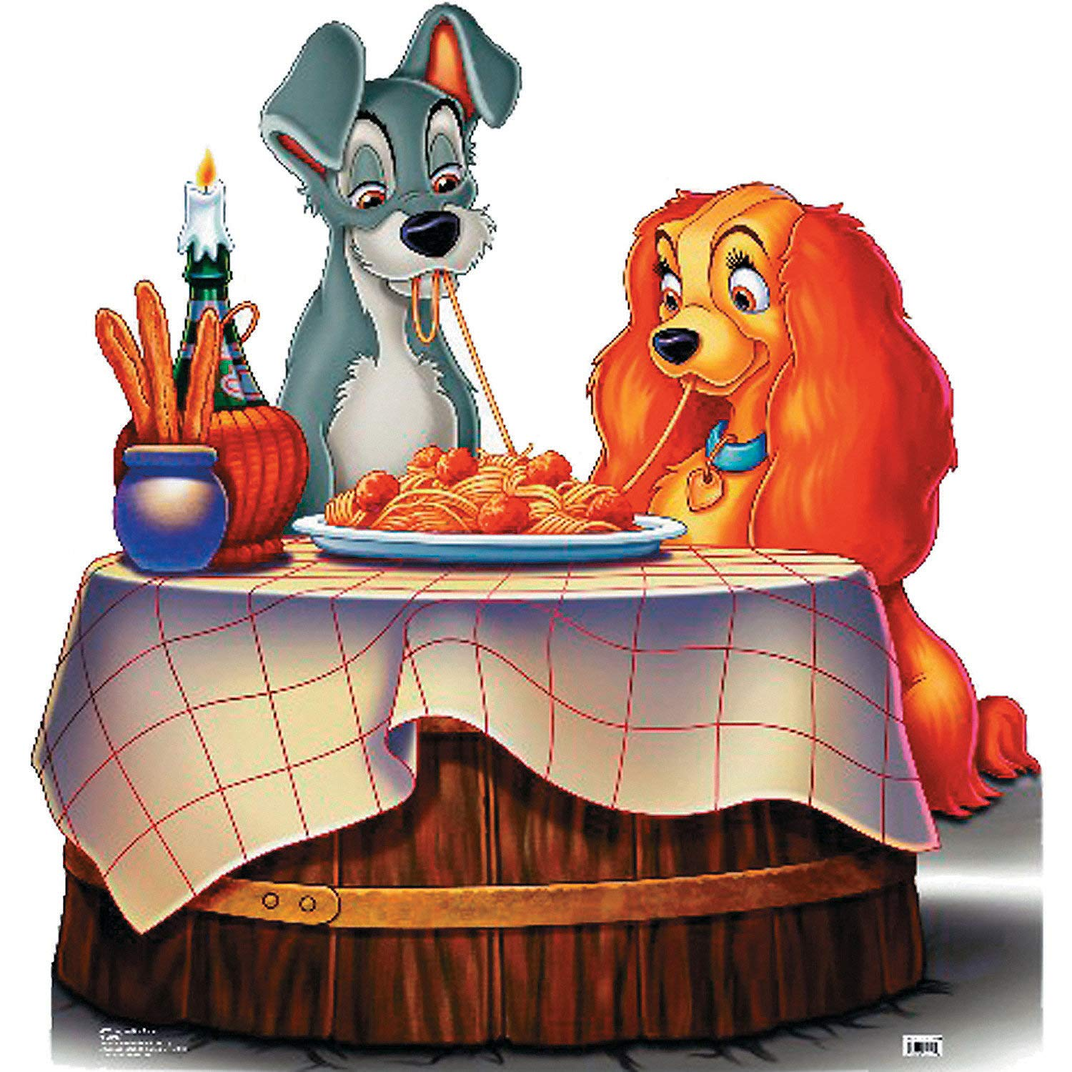 Fun Express - Lady And The Tramp Standup - Party Supplies - Licensed Tableware - Misc Licensed Tableware - 1 Piece