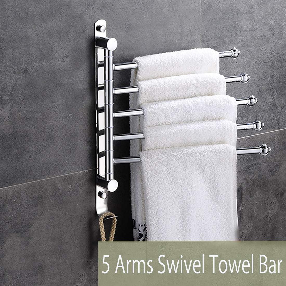 CHROME TOWEL RACK bath room holder shelf hotel vanity cupboard linen bar rv ...