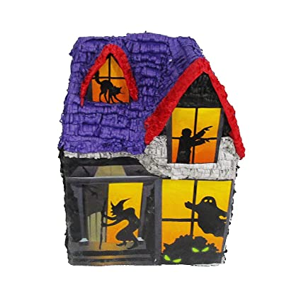 halloween haunted house pinata party game centerpiece decoration and photo prop