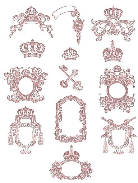 Amazon.com: Machine Embroidery Designs Set - Medieval Frames - 13 ...