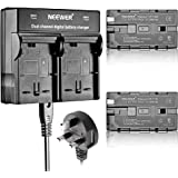 Neewer® (2 Pack) 2600mAh NP-F550/570/530 Replacement Battery+Dual Charger for Sony HandyCams, Neewer Nanguang CN-160, CN-216, CN-126 and other LED On-Camera Video Lights Which Using NP-F550