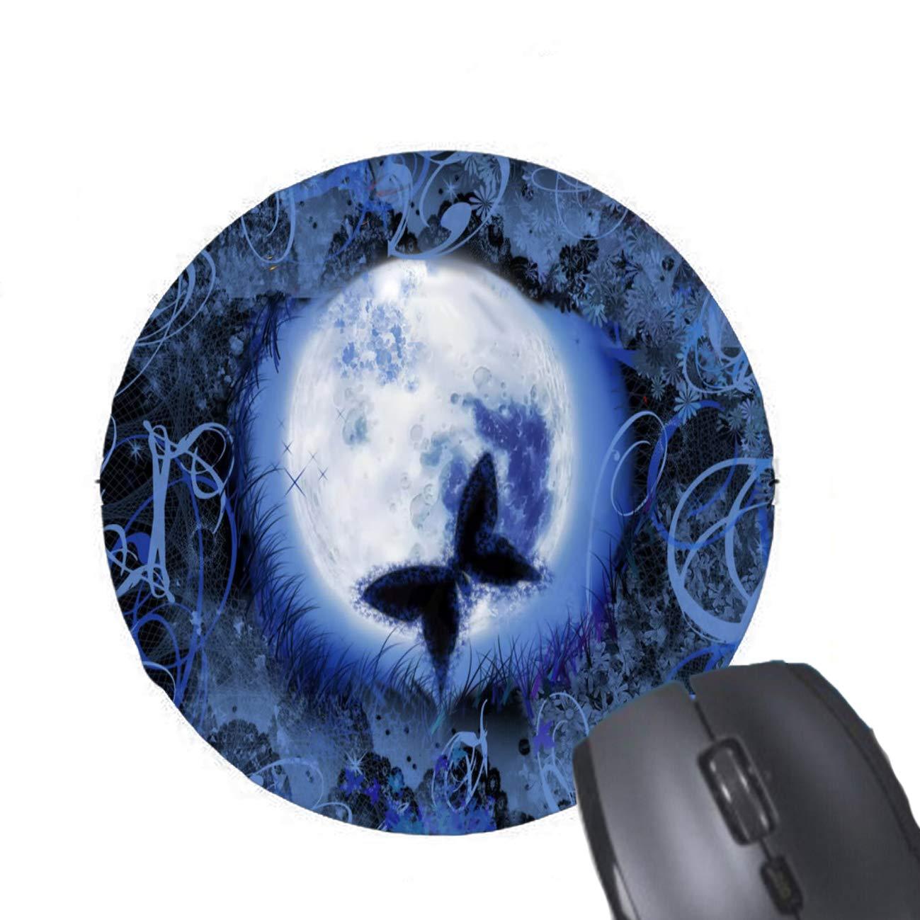 Funda de Almohada Mariposa con patrón de Luna Azul 16 x 16 ...
