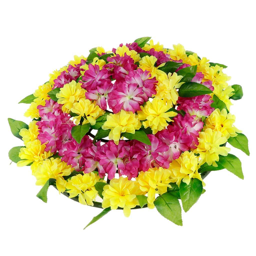 Fenteer 造花 キャンバス 花輪 菊 葬儀 ヘッドストーン 墓地 記念日のアクセサリーのアレンジメント 70a429d2f281602a4f7fc354bbb512fc B07JC14Z8G 2