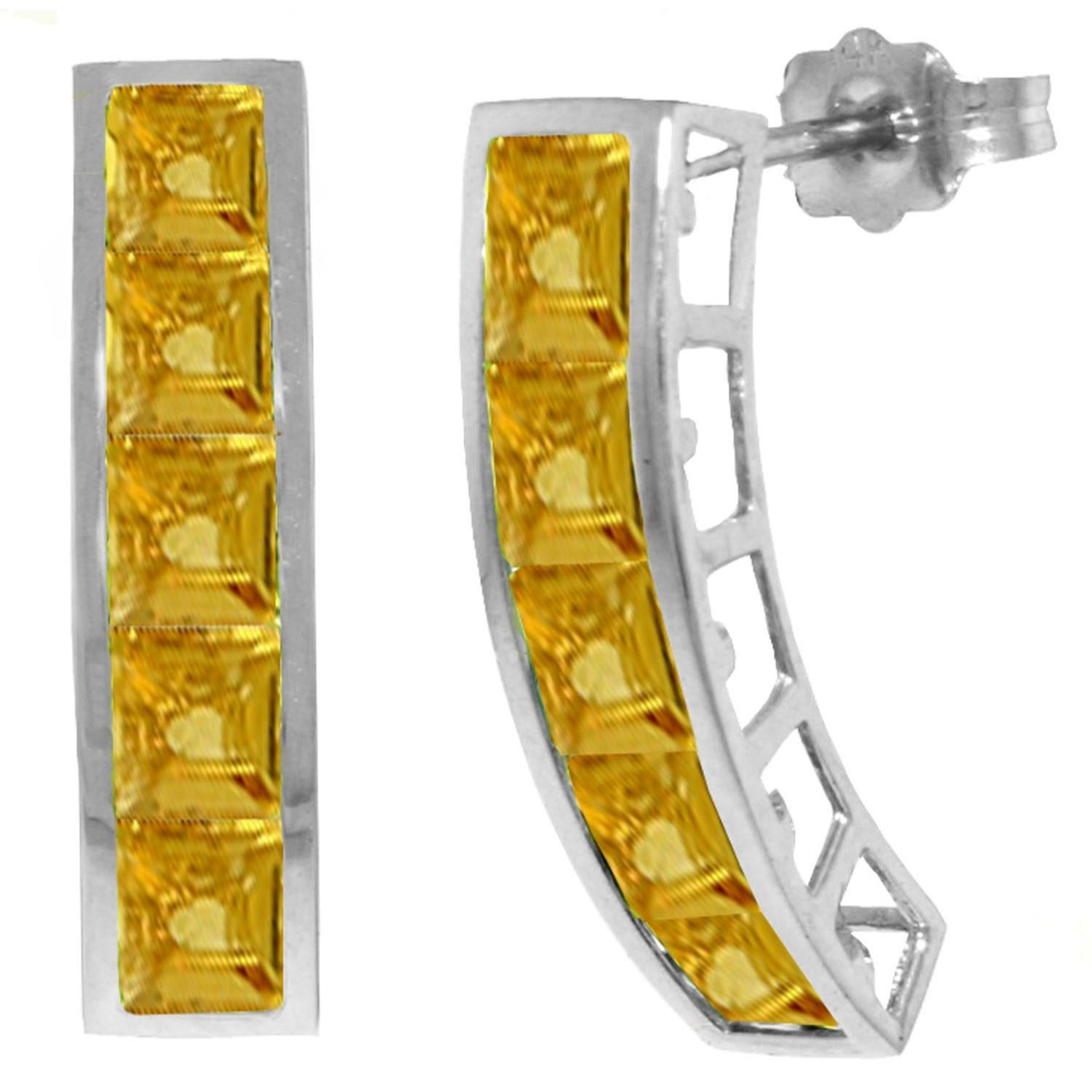 ALARRI 4.5 CTW 14K Solid White Gold Drifting Towards Love Citrine Earrings by ALARRI (Image #1)