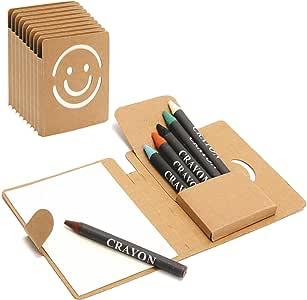 Partituki Pack de 10 Mini Libretas. Cada una con 5 Ceras para Colorear. Detalle Ideal para Regalos de Fiestas de Cumpleaños Infantiles: Amazon.es: Oficina y papelería