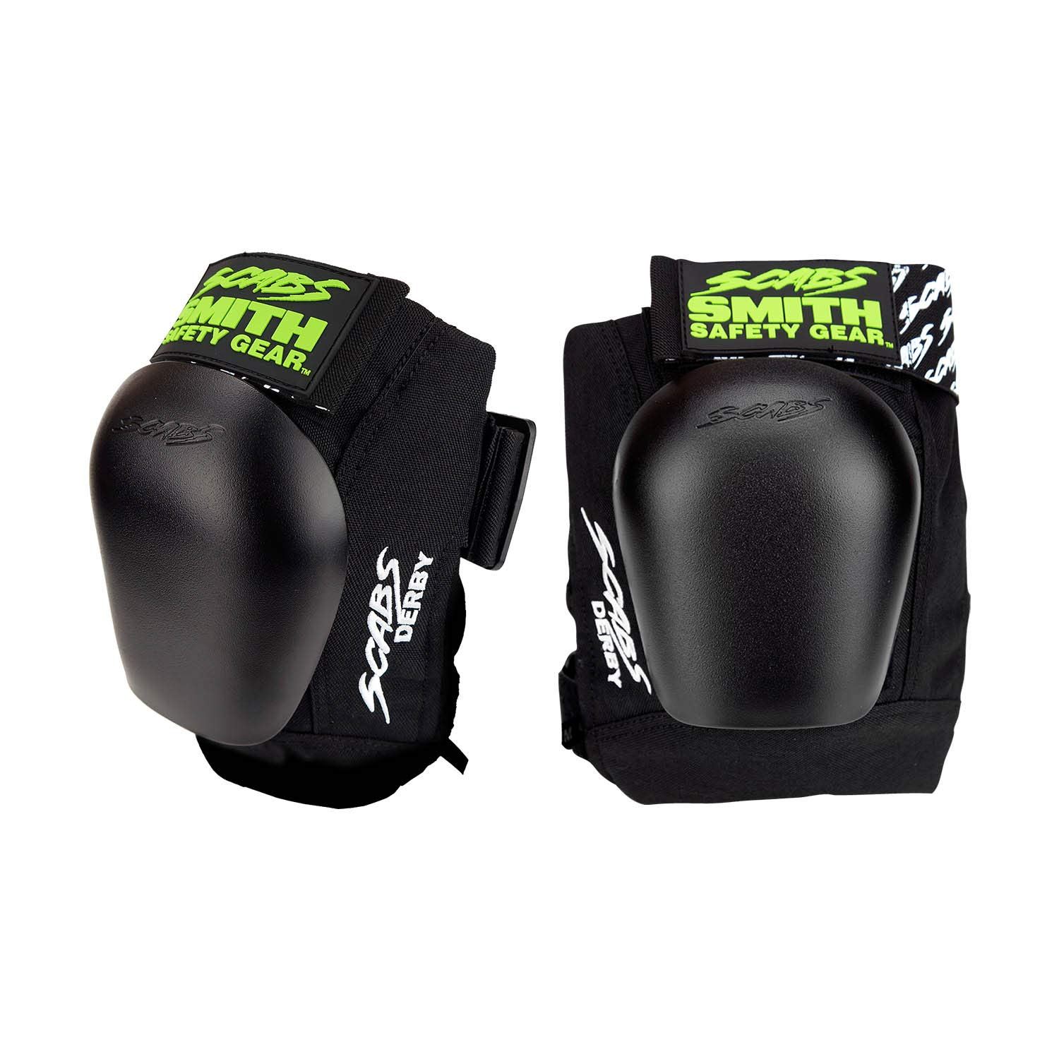 Smith Safety Gear Scabs Derby Knee Pad, Black/Black, Large