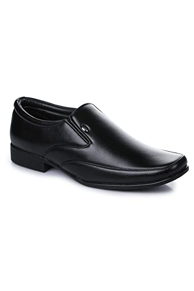 5a13494c719 Action Shoes Men s Black Synthetic Leather Formal Shoes -10 UK India (44 EU