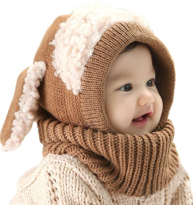 75 opinioni per Inverno del bambino delle ragazze dei capretti dei ragazzi di lana caldo Coif