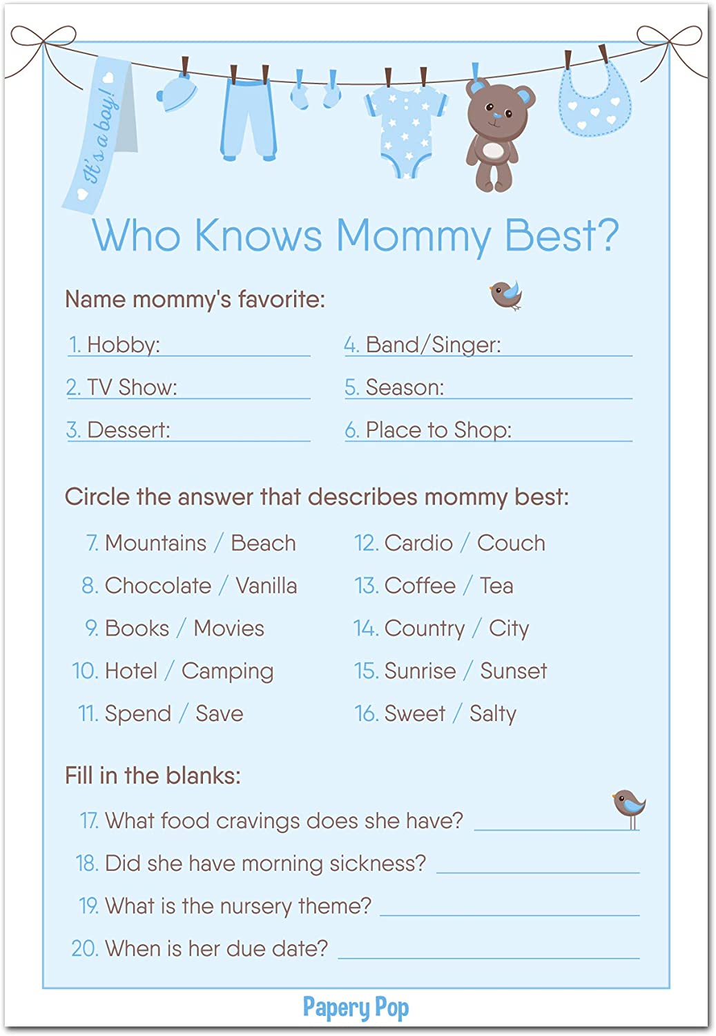 Amazon Com Who Knows Mommy Best Game Cards Pack Of 50 Baby