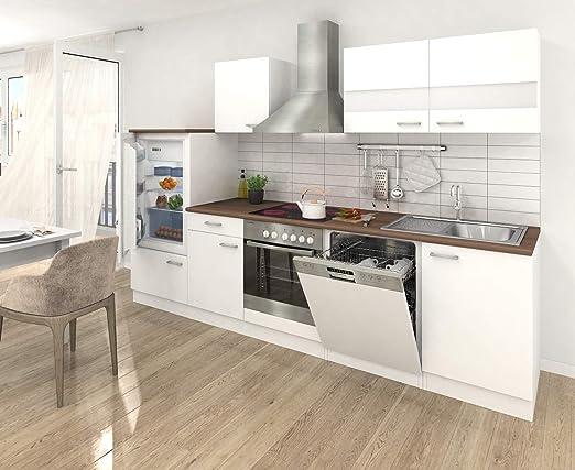 respekta – Instalación de Cocina Cocina – Bloque de Cocina (280 cm Color Blanco Blanco KB 280 WW: Amazon.es: Hogar