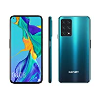 Unlocked Smartphone, HAFURY GT20 8GB RAM/128GB, 6.4-Inch Display, 48MP Cameras, 4200mAh Battery, Android 10, Global Version, Dual SIM, Gradient+Green