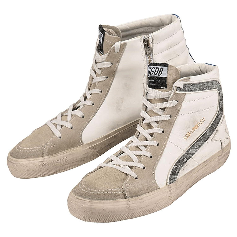 【ゴールデングース】 Golden Goose Sneakers Slide G31MS595.LAN2 メンズ ホワイト 白 レザー スニーカー ハイカット 【並行輸入品】 B07C8L3F1D