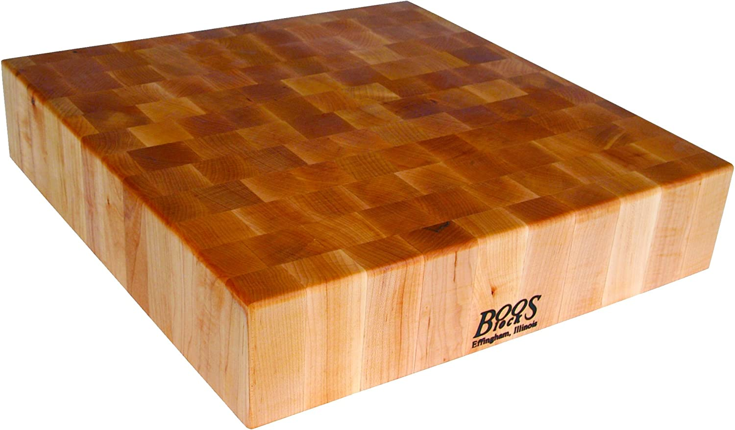 John Boos Block Bb03 Classic Reversible Maple Wood End Grain Chopping Block 30 Inches X 30 Inches X 6 Inches Cutting Boards Kitchen Dining