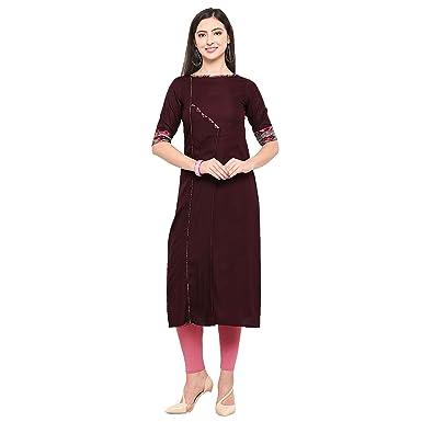 bf20e68ed Aayurda Magenta with multi color Print Women s Cotton Rayon Designer Kurti