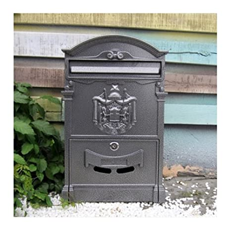 European classical villa mailbox Pastoral retro wall letter box Waterproof outdoor Post mailbox with lock Baroque
