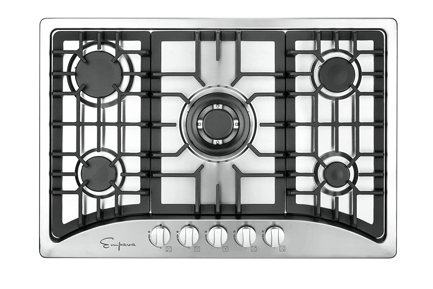 "Empava 30"" 5 Italy Sabaf Burners Gas Stove Cooktop Stainless Steel EMPV-30GC5B70C"