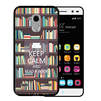 WoowCase Funda ZTE Blade V7 Lite, [ZTE Blade V7 Lite ] Funda Silicona Gel Flexible Keep Calm and Read a Book, Carcasa Case TPU Silicona - Negro